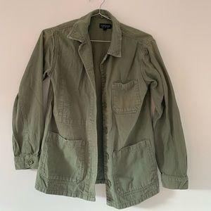 TOPSHOP army green utility jacket